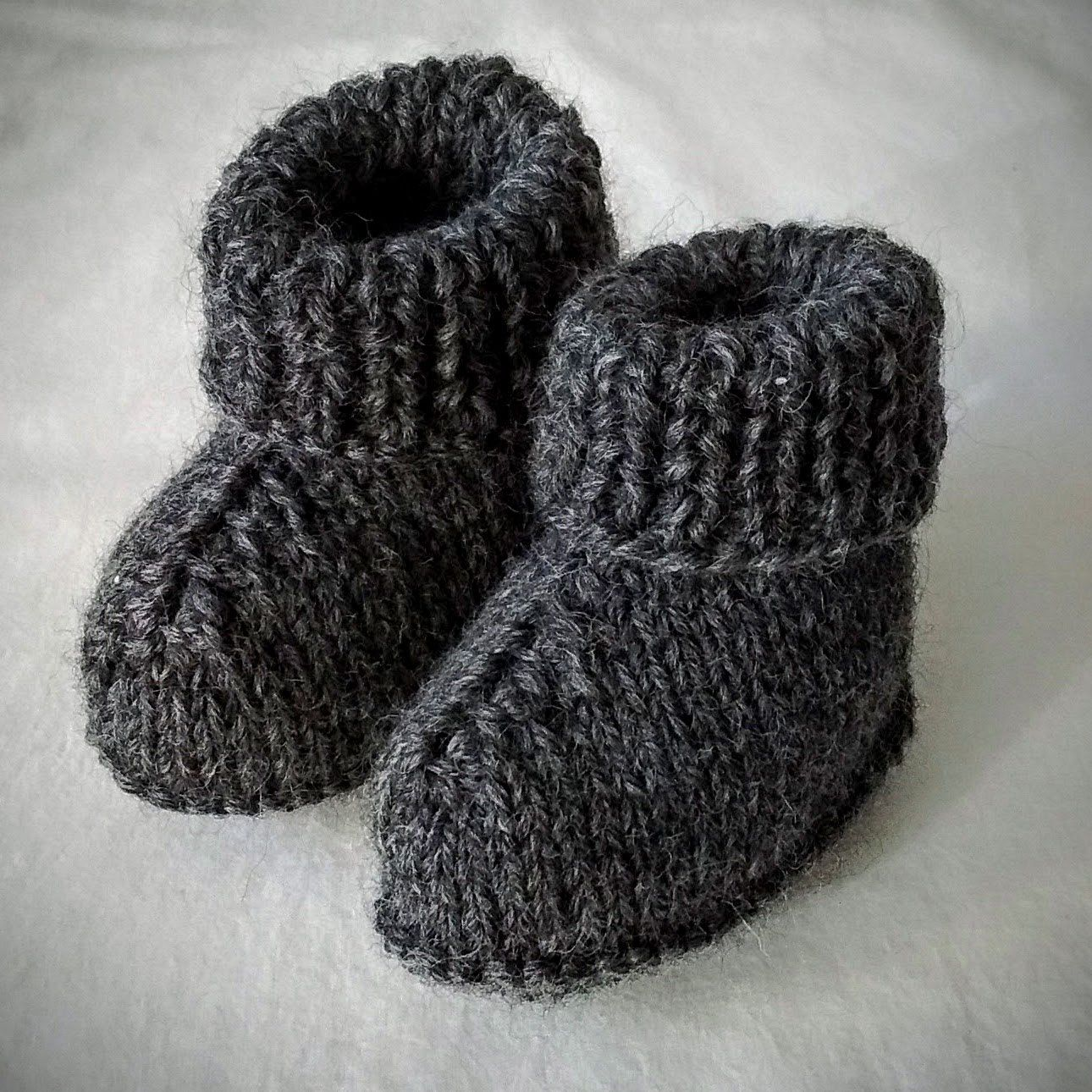 Pin on ~ Knit Baby Shoes ~
