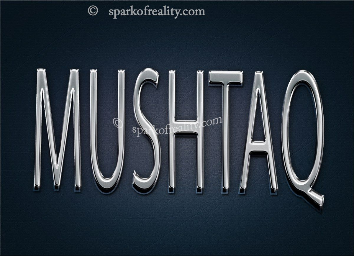 Mushtaq Name Logo Hd Wallpapers 3d Text Art