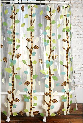 Urban Outfitters Woodsy Shower Curtain Festa