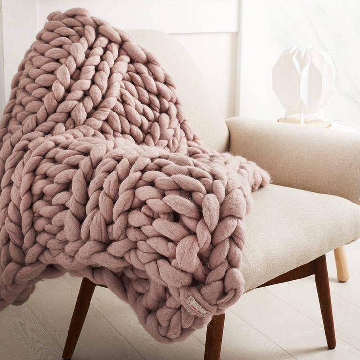 Handmade Chunky Knit Blanket Products Pinterest Bedroom