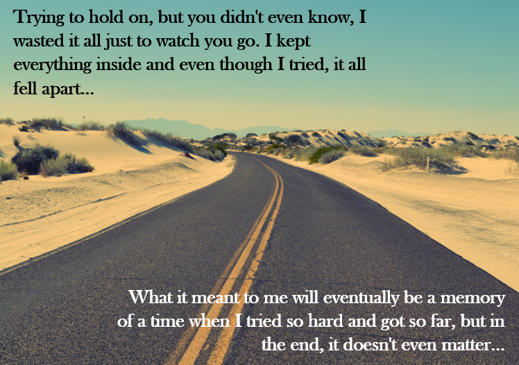 In The End by Linkin Park
