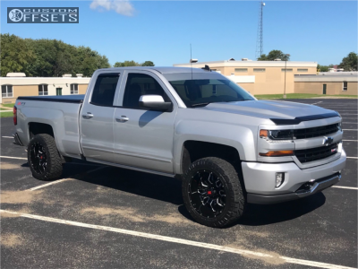 2017 Chevrolet Silverado 1500 Havok H109 Nitto Ridge Grappler 2017 Chevrolet Silverado 1500 Chevy 1500 Silverado 1500
