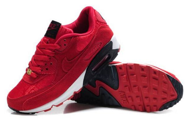 brand new 72967 58bb1 Best Quality of Nike Air Max 90 Men China Red Shoes is sold with great  discount and free shipping, The comfortable Three-Point Fit takes benefit  of ...