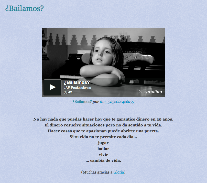 No te lo puedes perder. ¿Bailamos? http://periodicobuenasnoticias.blogspot.com.es/2013/10/bailamos.html