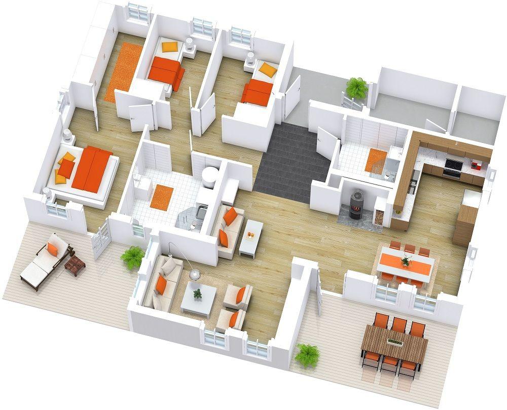 Top Modern House Floor Plans Millenial Desain Rumah Desain Interior Arsitektur Rumah