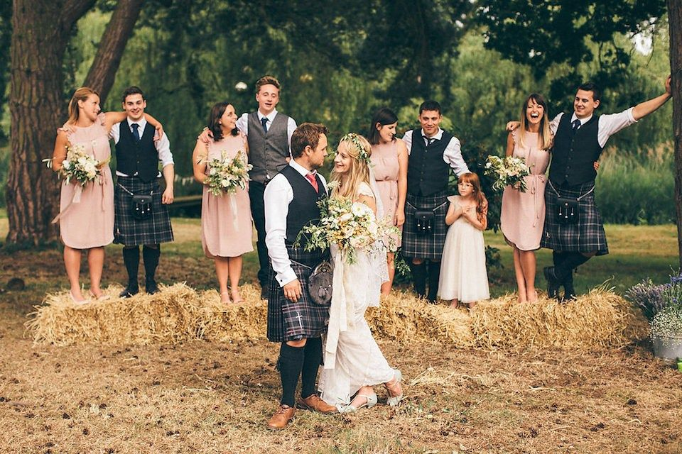 Bride and groom from a rustic and whimsical woodland wedding. Photography by http://www.redonblonde.com/
