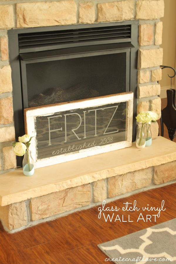 Glass Etch Vinyl Wall Art | Vinyl wall art, Diy craft projects and Glass