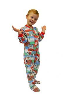Christmas Footie Pajamas For Kids.Pin On Christmas Pajamas
