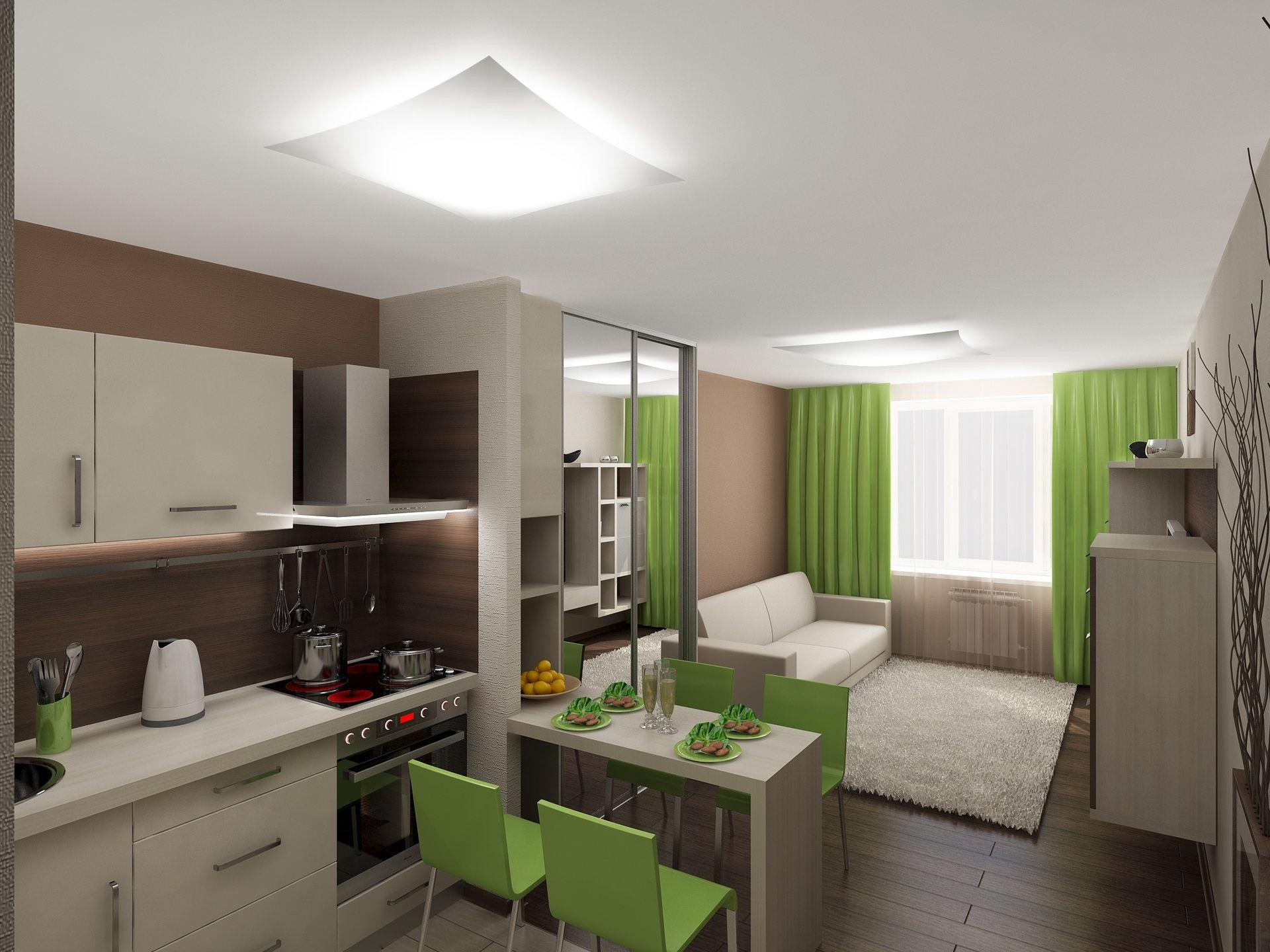Дизайн квартиры студии 25 кв.м: разделение на зоны, фото с ...
