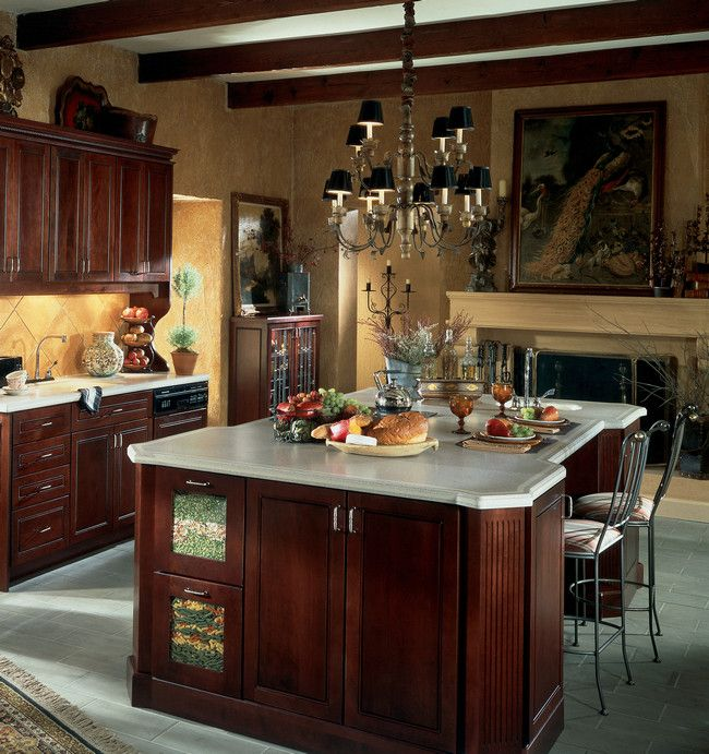 Deep Kitchen Cabinet Solutions: An Eclectic Kitchen Provides Perfect Storage Solutions In