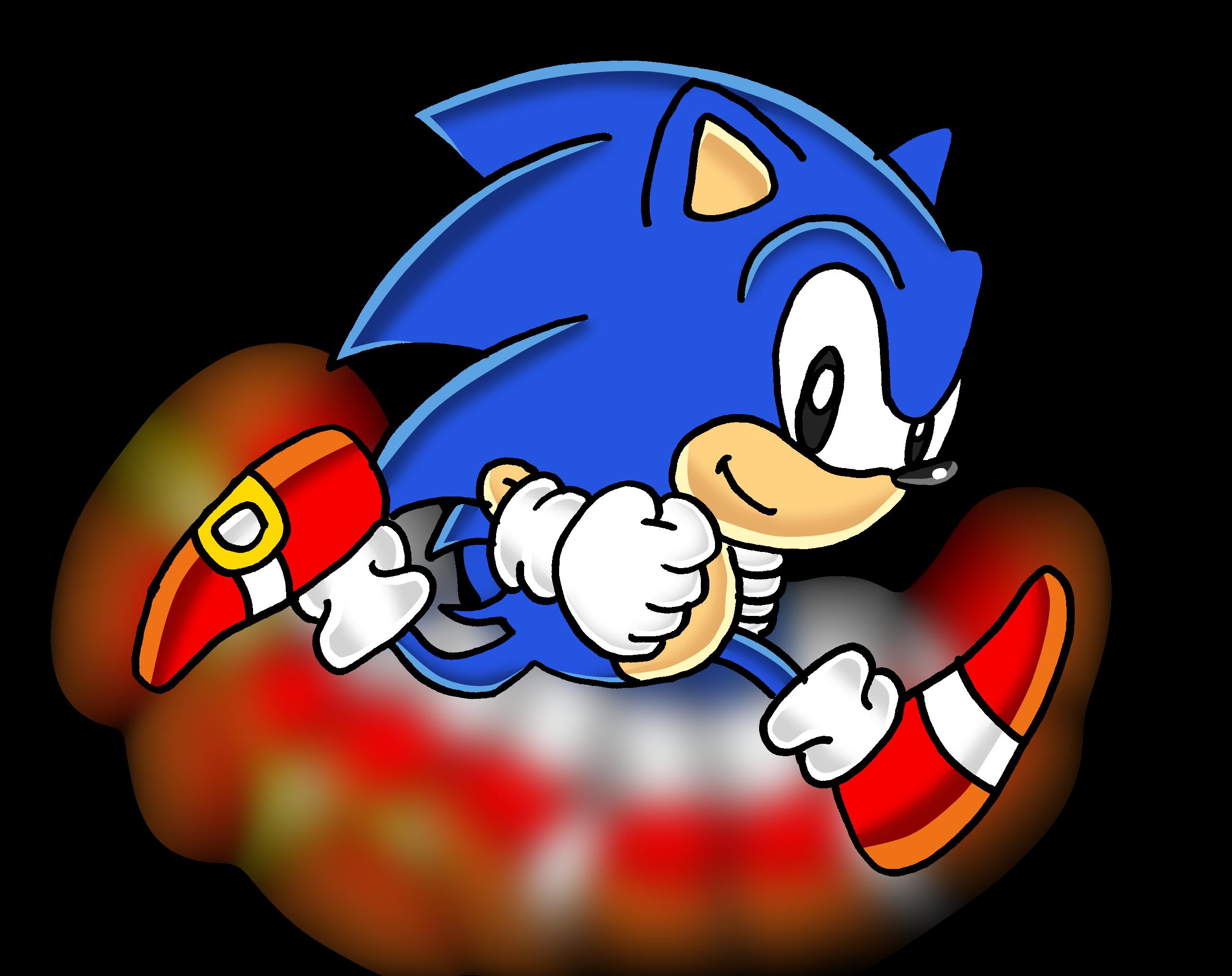 Classic Sonic Running Png 2600 2060 Classic Sonic Sonic Sonic Dash
