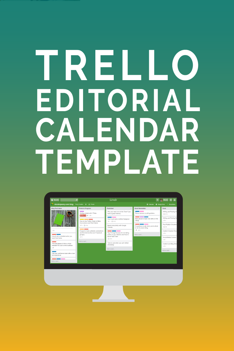 Trello Editorial Calendar Template Manage Your Blog And Newsletter