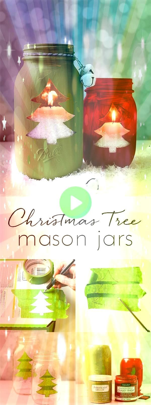 Jar Christmas Tree Vocal Jar Christmas TreeVocal Jar Christmas Tree Let it snow  window screen hand painting with light  This DIY Christmas craft makes for a beautiful ho...