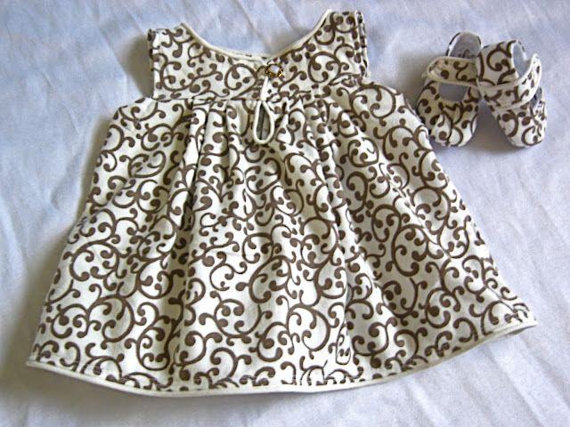Cute dress and matching shoes... free pattern! | Things for Lily ...