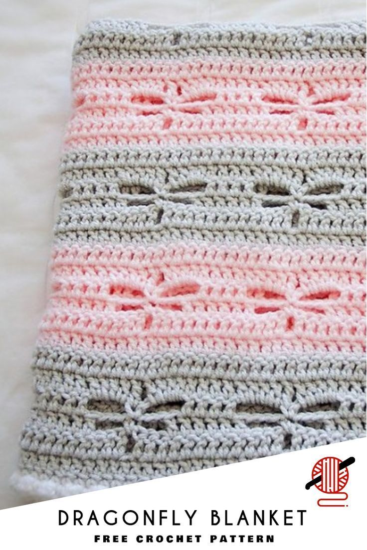 Dragonfly Crochet Blanket [FREE #afghans