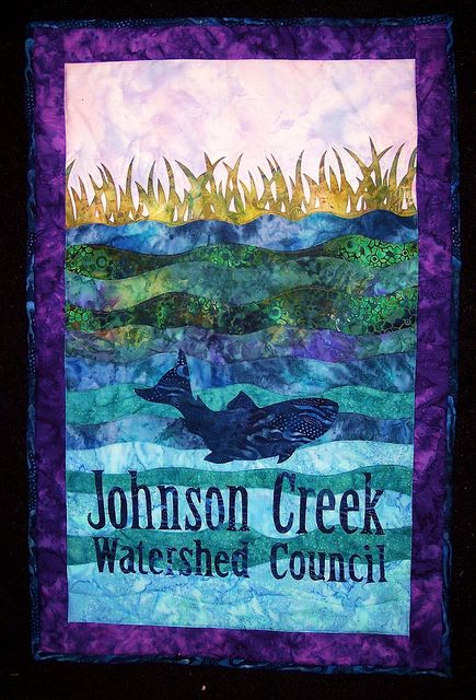 Johnson Creek wall hanging by quiltinkimmie, via Flickr