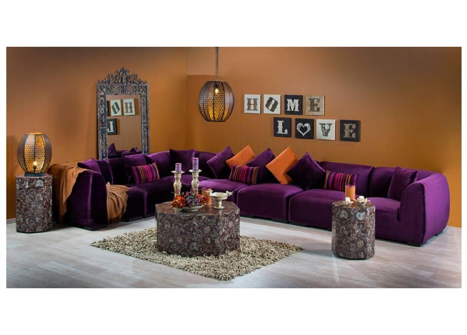 جلسة بألوان عصرية جريئة و مقاعد بحشوات الدانلوب لراحة أكثر السعر 667 د ك 9025 ر س 8445 ر ق ميداس طقم منزلي السعود Home Decor Home Modern House
