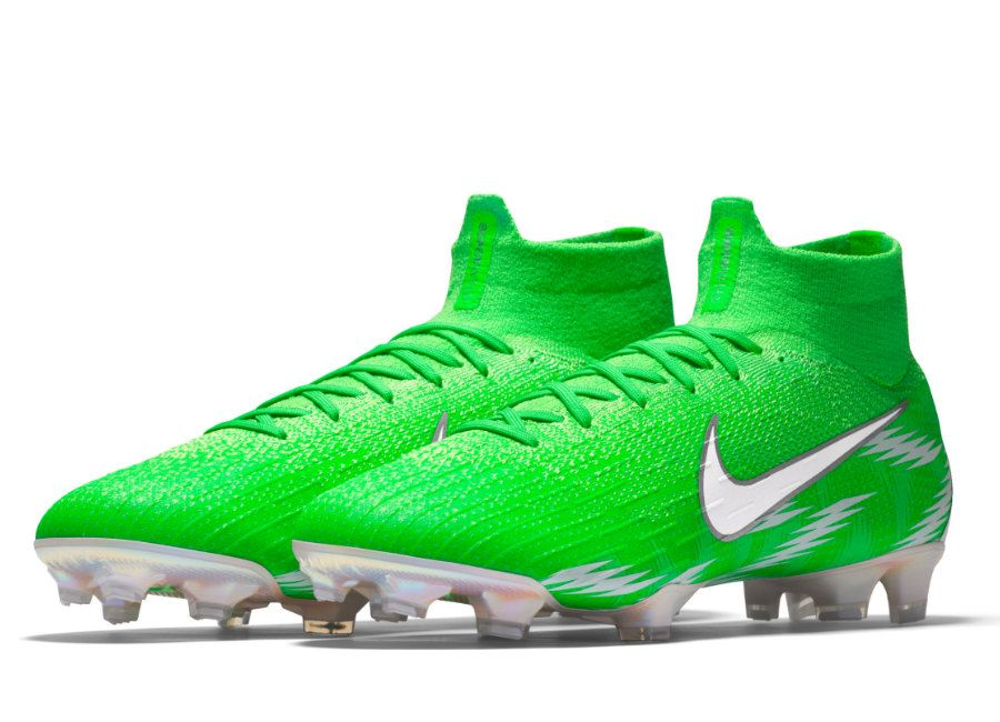 90b3efc14  football  soccer  futbol  NaijaAllTheWay  Nigeria  nikefootball Nike  Mercurial Superfly 360 Elite FG Naija Premium iD - Green Strike  …