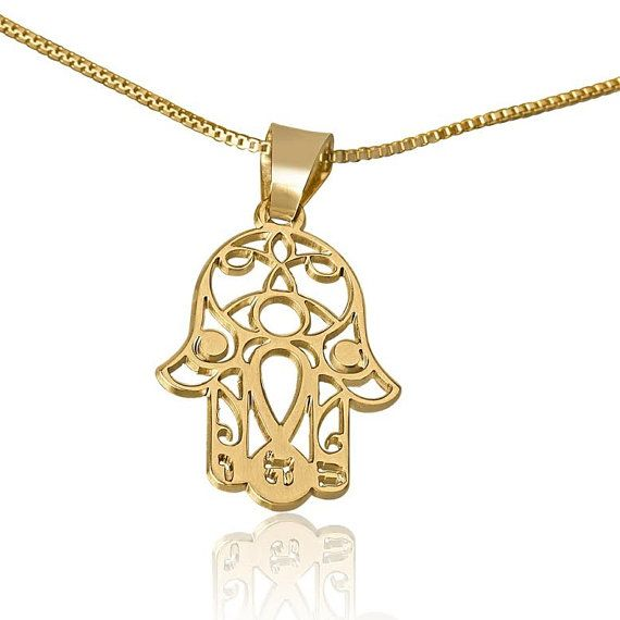 Gold hamsa hand necklace gold hamsa from by reallyawesomejewelry gold hamsa hand necklace gold hamsa from by reallyawesomejewelry aloadofball Choice Image