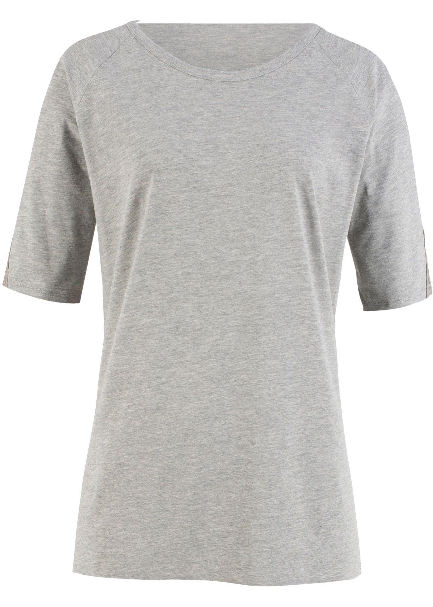 T Shirt Mit Spitzeneinsatz Am Armel In 2020 T Shirt Shirts Kurze Kleider