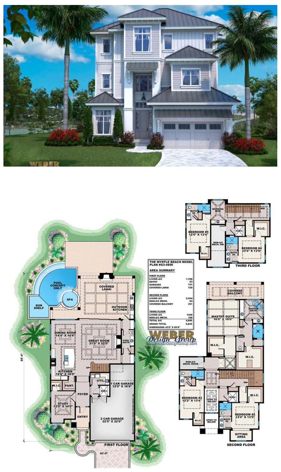 Beach House Plan Open Layout Beach Home Floor Plan With Pool Beach House Floor Plans Beach House Plan Beach House Flooring