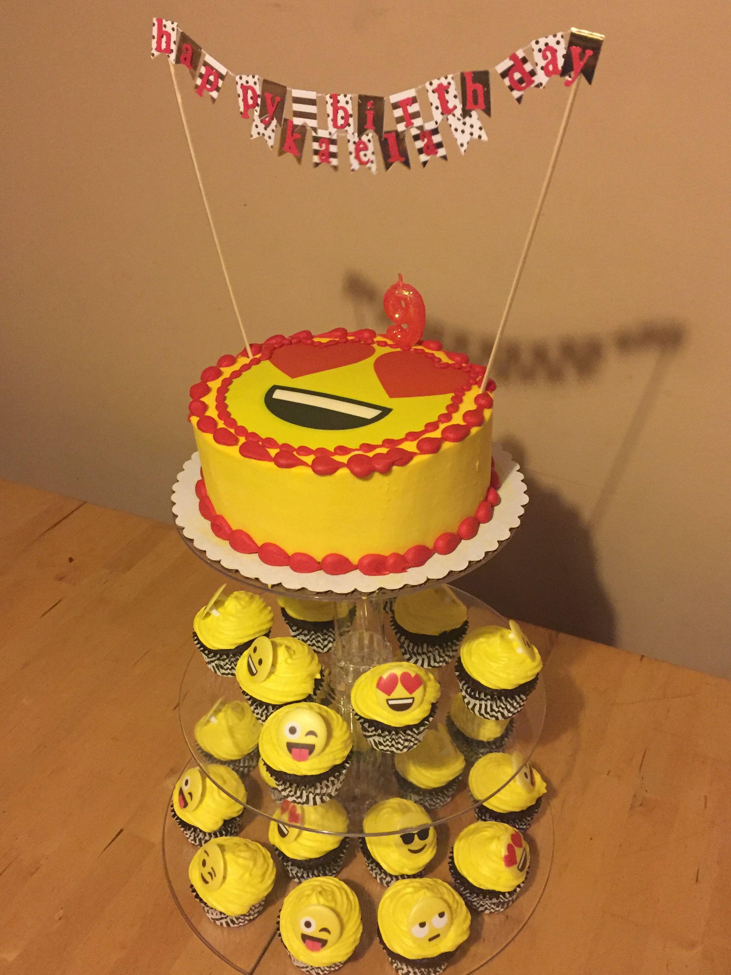 Emoji birthday cake emoji birthday cake cupcake cakes