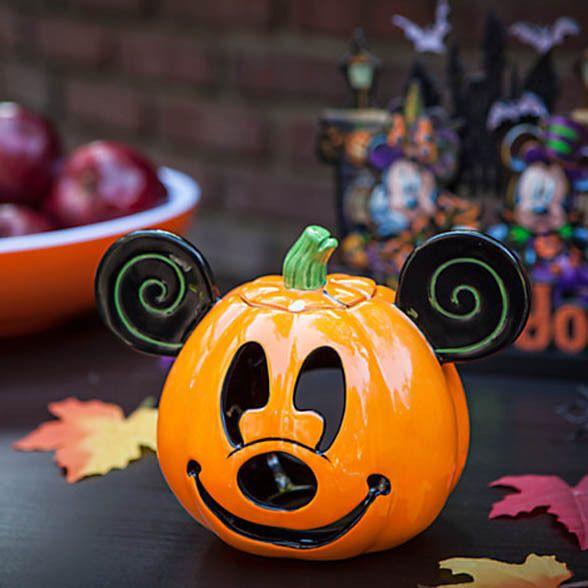Autumn Mickey Mouse Pumpkin Halloween Jack-O-Lantern Iron On Patch