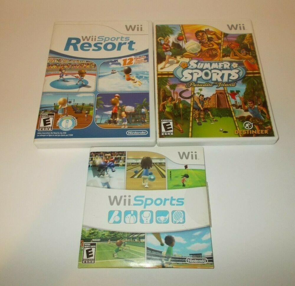 Nintendo Wii Sports Sports Resort Summer Sports Paradise