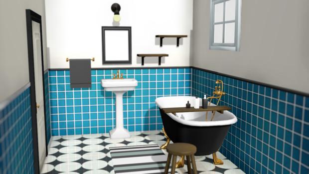 Mmd Omf9 浴室 志村 さんのイラスト