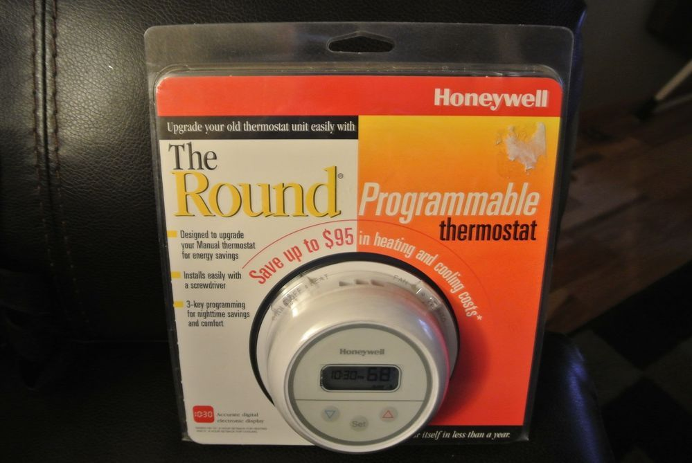 Honeywell CT2700A Digital Round Programmable Thermostat