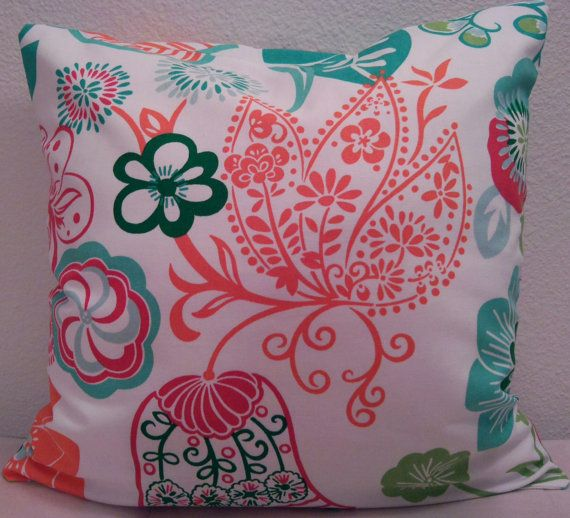 18 x 18 Mod Print Pillow Cover by SewingWithGreenEyes on Etsy, $15.00