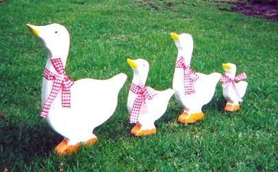 Duck Home Decor Duck Family Yard Decorations Wood Shop