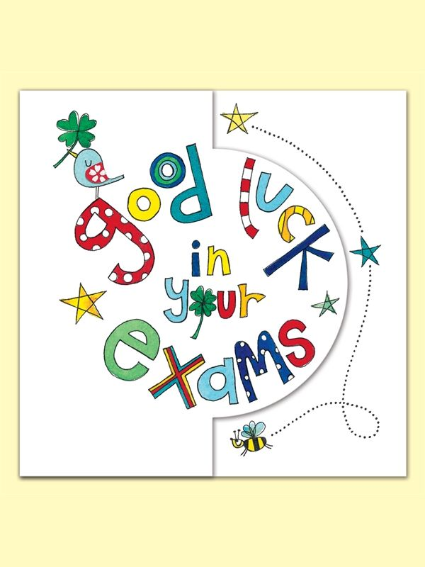 Good Luck in Your Exam Greeting Card by Rachel Ellen Good Luck - best wishes for exams cards