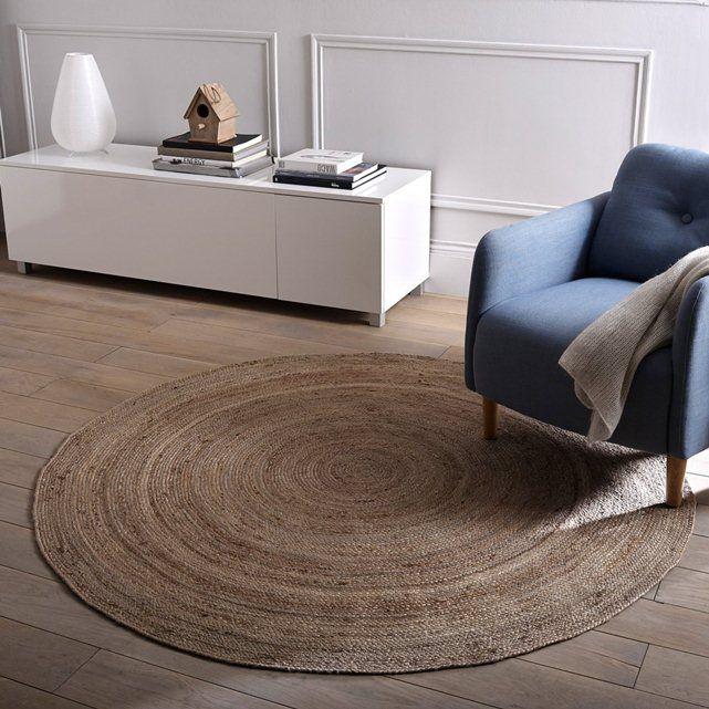 Jute tapis, 160 cm de diamètre., Couleur naturelle, le muguet La Redoute Interieurs
