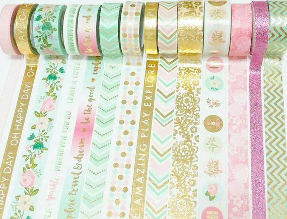 Pink and Yellow Ribbon Washi Tape