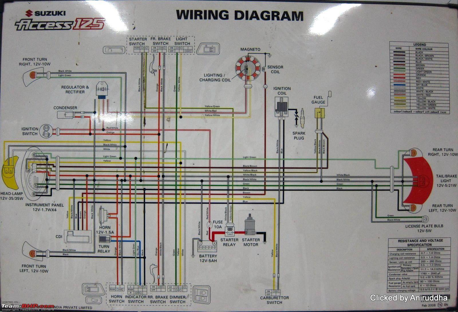 Suzuki Access 125 Wiring Diagram With Images