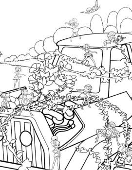 Barbie Thumbelina Decorate Car Coloring Pages Barbie Coloring