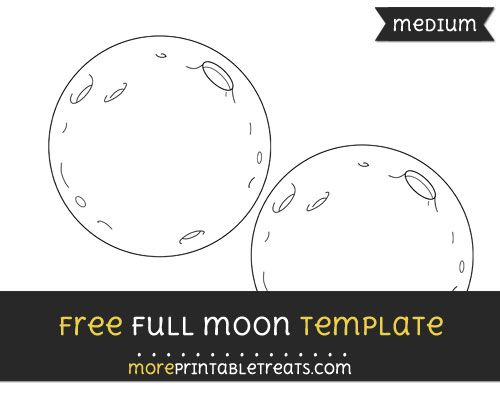 Free Full Moon Template - Medium