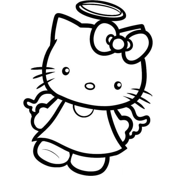 Printable Hello Kitty Coloring Pages Kids - Cartoon Coloring pages ...