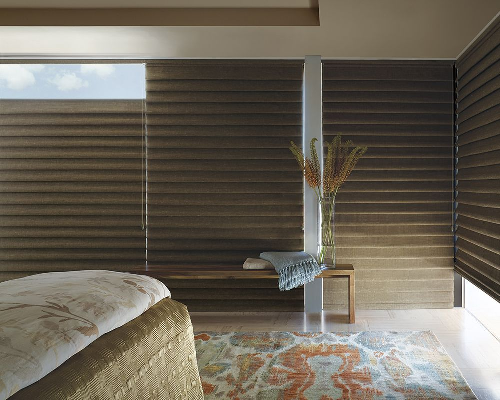 Hunter Douglas Roman Shades In Room Darkening Are Perfect For Bedroom Es Block Out That Direct Sunlight And Heat Those Hot Summer Months