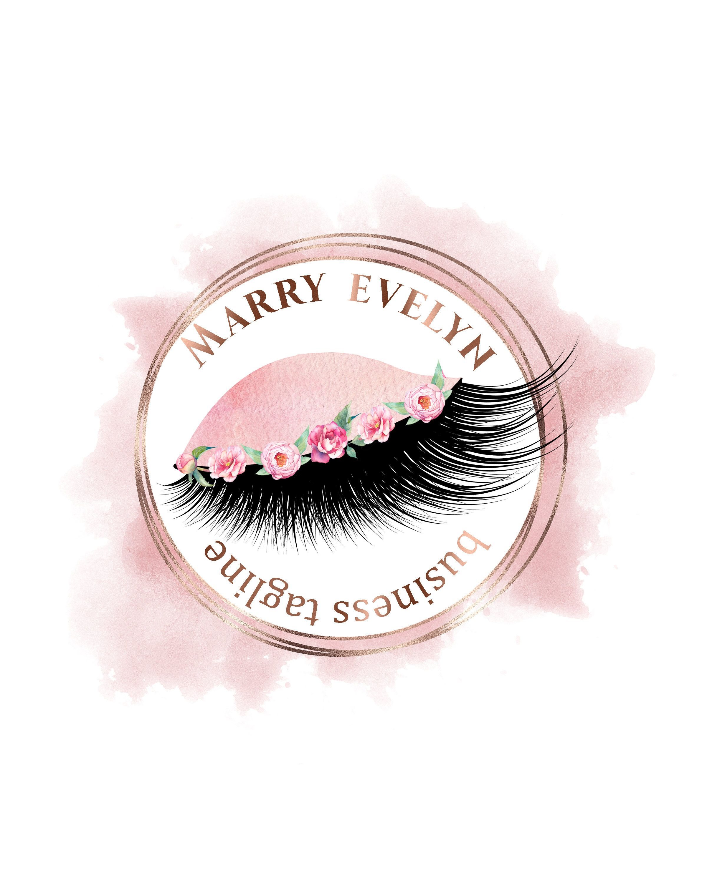 Lashes Logo, Makeup Logos, Eyelashes Logo, Salon Logos