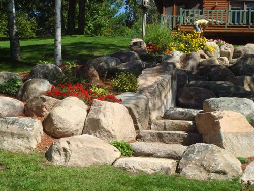 images about landscaping on, boulder landscaping ideas, boulder landscaping images, boulder rock landscaping ideas