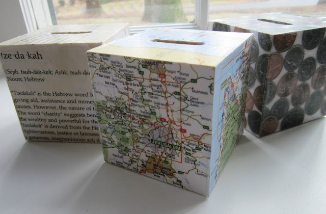 Diy Tzedakah Boxes A K A Charity Boxes Or Pushkes From