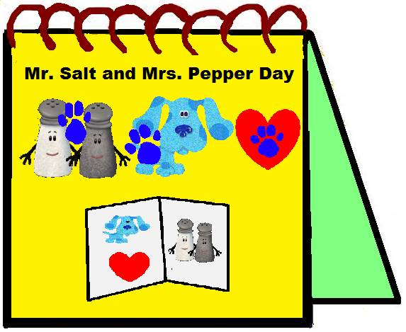 Clues From Mr Salt And Mrs Pepper Day Blue S Clues Blues Clues Day
