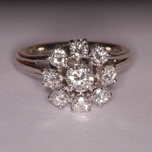 Souvent Bague marguerite diamants vintage | Jwellery | Pinterest | Bague  BY92