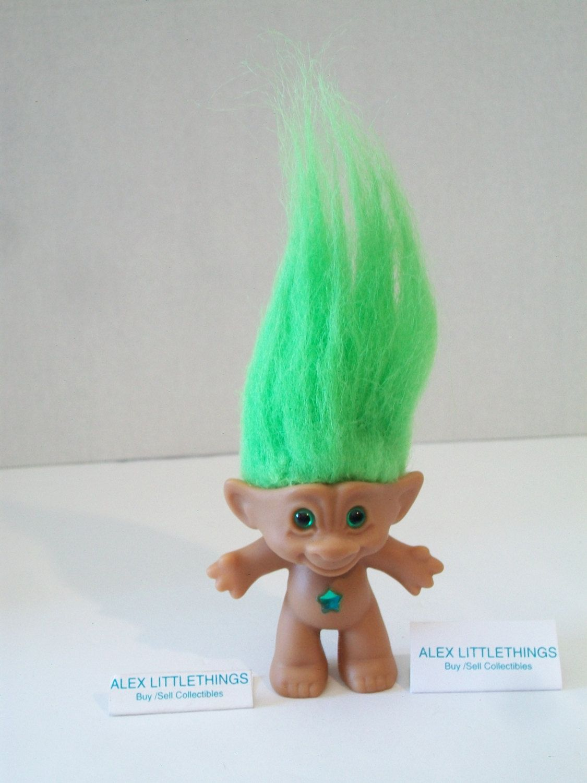 Pin By Natasha Griffin On Trolls Troll Dolls Green Hair Troll