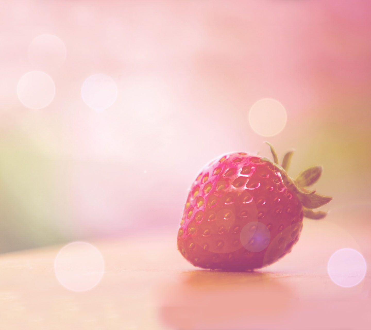Pink Strawberry Wallpaper