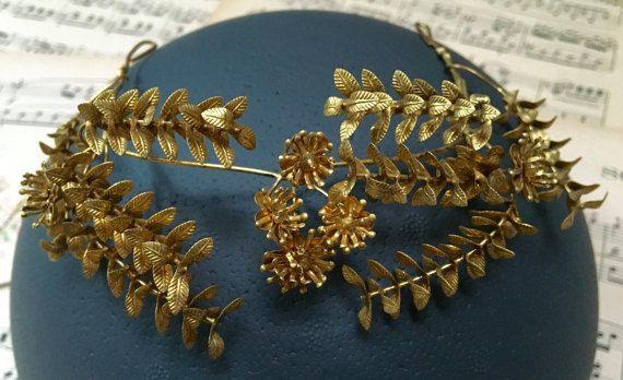 Vintage Gold Brautkrone Mit Anstecknadel Antik Von