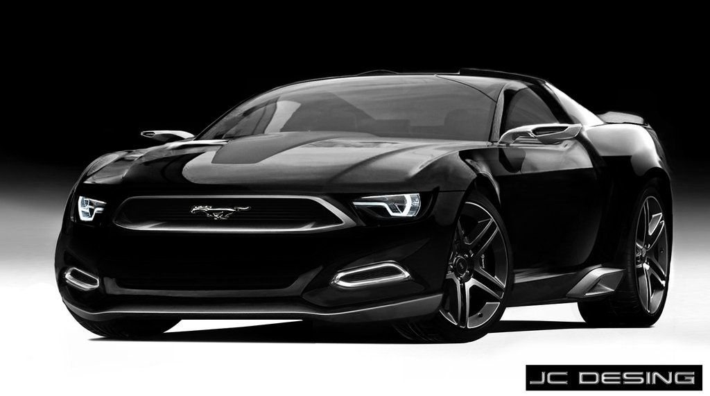 new black ford mustang concept by jhon connor