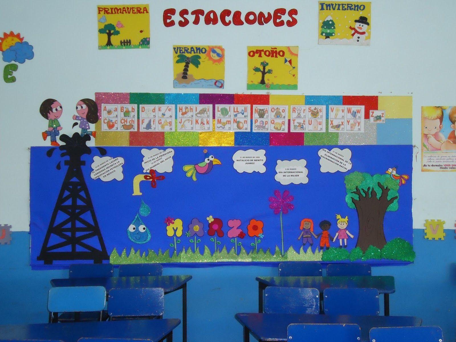 periodico mural primavera preescolar - Buscar con Google
